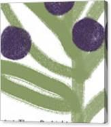 Olive Branch Hanukkah Card- Art By Linda Woods Canvas Print