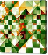 Olive Facets Canvas Print