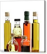 Olive Oil,salad Dressing And Vinegar Canvas Print