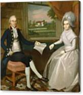 Oliver And Abigail Wolcott Ellsworth 1801 Canvas Print