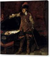 Oliver Cromwell Opening The Coffin Of Charles I  Canvas Print
