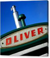 Oliver Tractor Nameplate Canvas Print