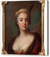 Olof Arenius, Ulrika Eleonora Ribbing Af Zernava 1723-1787 Canvas Print