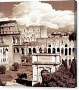 Colosseum From Roman Forums  Canvas Print