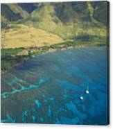 Olowalu Aerial Canvas Print