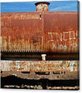 Ols Rusty Container Train Wagon Canvas Print