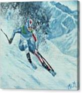 Olympic Downhill Skier Canvas Print