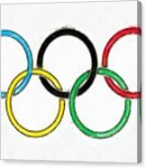 Olympic Rings Pencil Canvas Print