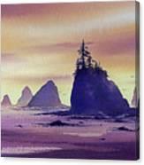 Olympic Seashore Canvas Print
