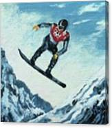 Olympic Snowboarder Canvas Print