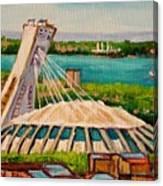 Olympic Stadium  Montreal Canvas Print
