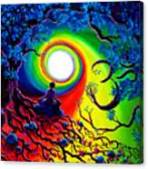 Om Tree Of Life Meditation Canvas Print