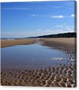 Omaha Beach, Normandy, France. Canvas Print