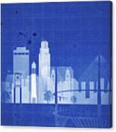 Omaha Blueprint Skyline Canvas Print