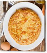 Omelette Tortilla Canvas Print