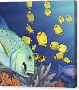 Omilu Bluefin Trevally Canvas Print