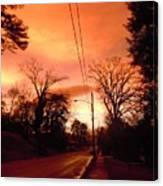 Ominous Orange Skies 1 Canvas Print
