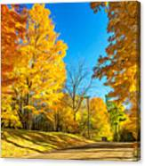 On A Country Road 6 - Paint Canvas Print