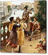 On A Venetian Balcony Canvas Print