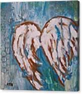 On Angel Wings Canvas Print