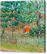 On Big Laurel In Autumn No.2 Canvas Print