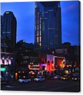 On Broadway In Nashville Canvas Print