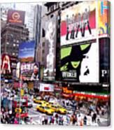 On Broadway New York Canvas Print
