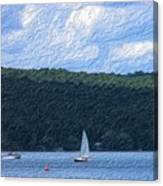 On Cayuga Lake Canvas Print
