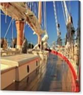 On Deck Of The Schooner Eastwind Canvas Print