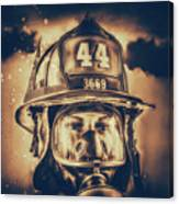 On Duty And Into Fire_dramatic Canvas Print