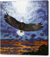 On Eagles Wings Canvas Print