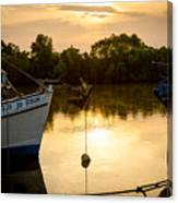 On Golden River Canvas Print