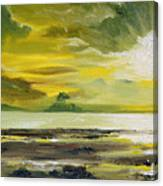 On Golden Shores Canvas Print