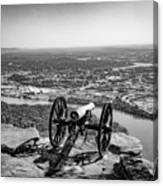 On Guard At Point Park Lookout Mountain In Tennessee Canvas Print