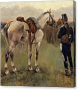 On Patrol In The Country Canvas Print