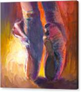 On Pointe At Sunrise Canvas Print