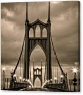 On St Johns Bridge Canvas Print