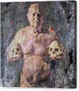 On The Altar Of Skull Carson #3. A Self-portrait, 2016 Canvas Print