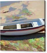 On The Beach Mykonos Greece Canvas Print