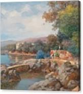 On The Beach Of Abbazia Canvas Print