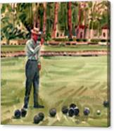 On The Bowling Green Canvas Print