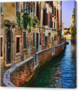 On The Canal-venice Canvas Print