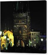 On The Charles Bridge Canvas Print