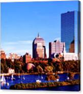 On The Charles Canvas Print