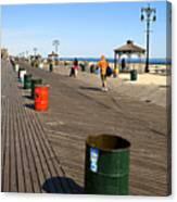 On The Coney Island Boardwalk Canvas Print