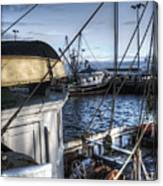 On The Docks In Provincetown Canvas Print