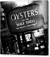 On The Half Shell - Bw Canvas Print