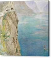 On The Italian Coast Canvas Print