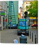 On The Ladder Canvas Print