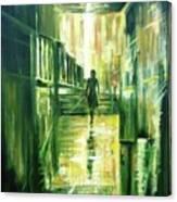 On The Light Canvas Print